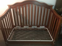 black and gray bed frame Midlothian, 23112
