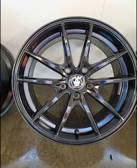 set of 4 mustang wheels