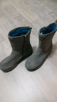Women's All Weather Lands End Insulated Boots Gray