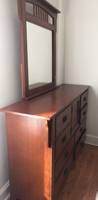 brown wooden dresser with mirror Arlington, 22204
