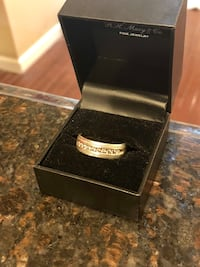 Men's Silver and Diamond Band
