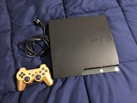 Black sony ps3 slim console with controller Centreville, 20120