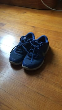 pair of blue-and-white Adidas running shoes Mechanicsville, 23111