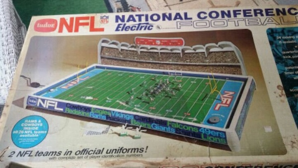 green and blue NFL national conference electric fo
