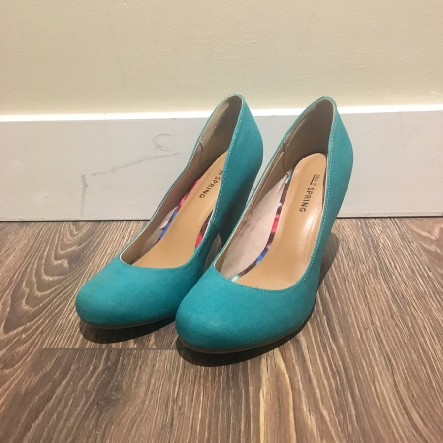 Call It Spring Teal Kerry Heels - Size 6.5