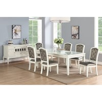 RECTANGULAR TABLE AND 6 CHAIRS WHITE Clifton, 07013