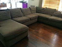 Chocolate Brown Sectional Couch Santa Ana