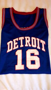 Blue and red new york knicks basketball jersey Jackson, 49201