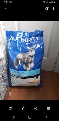 full 30lb  bag of small breed Authority  brand chicken&pea  dog food