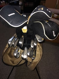 Gold Eagle golf bag Ladies right handed clubs bag full with everything u possibly need for golf except money and shoes! Walter Hager clubs plus a few extras 15 clubs in all! Also selling Oster used convection oven still have box gently used great used con Biglerville, 17307