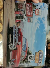 Buckaroo Motel red classic car poster
