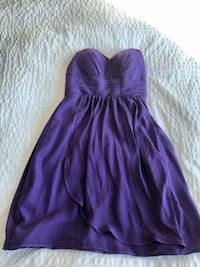 Women's Size S Purple Dress Sweetheart No Strap Toronto, M9A 5A9