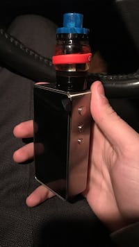 silver and black snow wolf mod with atomizer