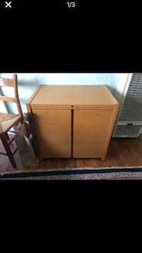 Brown wooden 2-door filing cabinet Berkeley, 94703