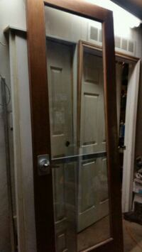 mahogany  tempered glass door 35 3/8x95 Forest Hill, 76119