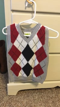 red, white, and black argyle sweater Daphne, 36526