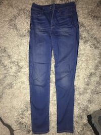 blue denim straight-cut jeans 456 mi