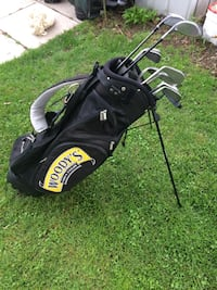 black and gray golf bag and clubs Delhi