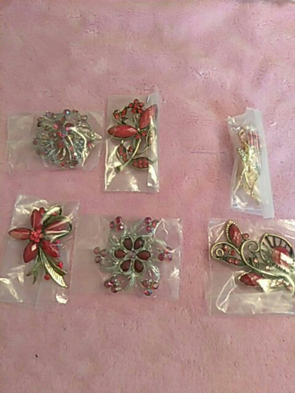 assorted gold and red beaded accessories in packs