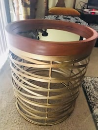 20x16 round wood mirror golden metal table check out my other items on this page message me if you interested gaithersburg md20877 Gaithersburg, 20877