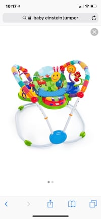 Baby's blue, green, and white jumperoo 651 mi