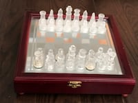 Glass chess set with mirrored board from Bombay Toronto, M2J 0B2