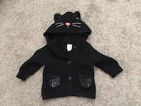 Baby Gap cat sweater size 3-6 months Toronto, M1E 4L5