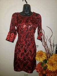 women's red and black long sleeve dress Surrey, V3X 1P3