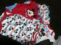 $2 for all 5 Mickey Mouse Onesies Size0-3mo Rialto, 92376