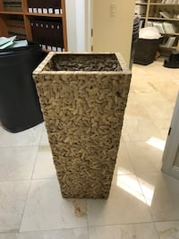 Tall beige planter Tampa, 33606