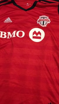 red and white adidas BMO shirt Toronto, M5A 3W3