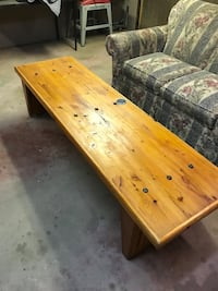 Rustic full length coffee table