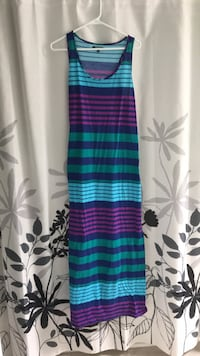 Striped maxi dress with slit on side size XL South-West Oxford, N4S