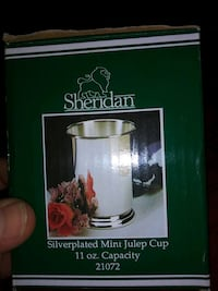 SHERIDAN. SILVER PLATED 11 OZ ,MINT JULEP CUP Lexington