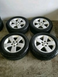Ford fusion rims and winter tires 205/60/16  Toronto, M6L 1A4