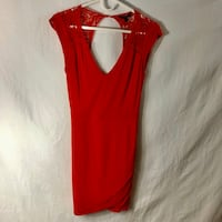 Red Guess Dress w/ Open Back , V9P