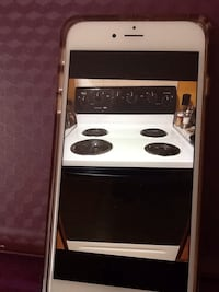 white electric coin range oven