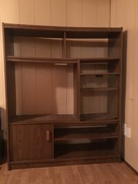brown wooden computer desk with hutch Cadillac, 49601