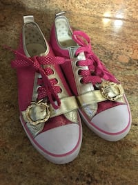 Women's pink & gold BLING low top sneakers Tennis Shoes size 10 Woodridge, 60517