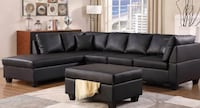 SECTIONAL SOFA COUCH IN  BONDED LEATHER WITH OTTOMAN - CHARLIE Toronto, M6N 3G1