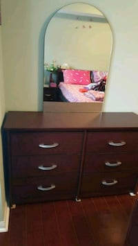 brown wooden dresser with mirror Mississauga, L5B 0A7