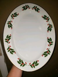 Old Fine China serving tray