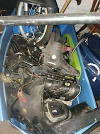 Lot of roller blades kids and adult.  Canton, 44705