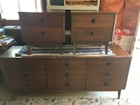 Brown wooden dresser and nightstands Victoria, V8N 2A6