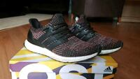 pair of black-and-pink Adidas running shoes with box Vancouver, V5S 3Z2