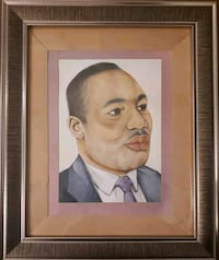 Original Hand Painted in wooden frame