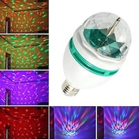CKSB LED Rotating Light Bulb Disco Party Light 3-Watt E27 LED Stage Light Laser Colorful RGB Bulb Stage Boyds, 20841