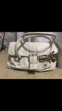 white and gray leather handbag Annandale, 22003