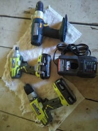 Ryobi 18-volt impact and drill with 2 batteries an North Highlands, 95660