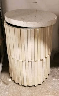 Side concrete table marble top